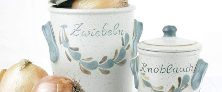 Zwiebeltopf Knoblauchtopf Keramik Kaufen Onlineshop Keramikscheune