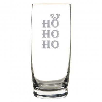 Longdrinkglas mit Gravur zu Weihnachten