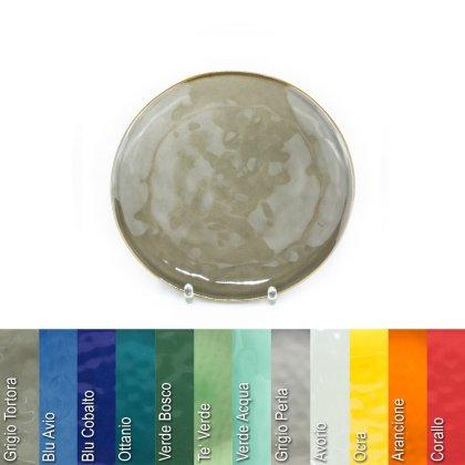 Teller D 20 cm aus Steinzeug in verschiedenen Farben - Rose & Tulipani