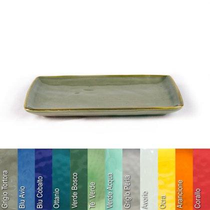 Platte 27 x 19 cm aus Steinzeug in verschiedenen Farben - Rose & Tulipani