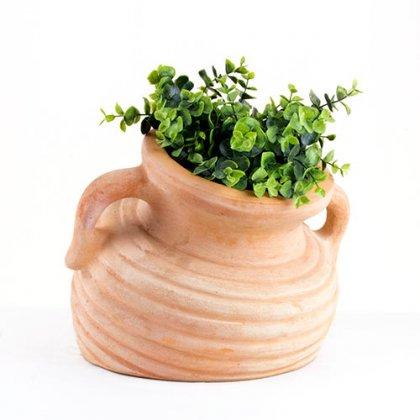 Amphore schräg - Terracotta