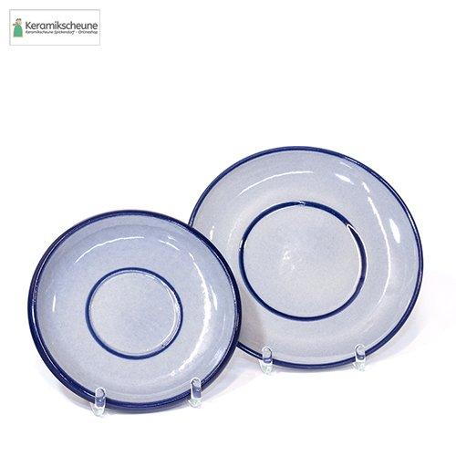 untertasse grau blau keramik steinzeug kaufen onlineshop