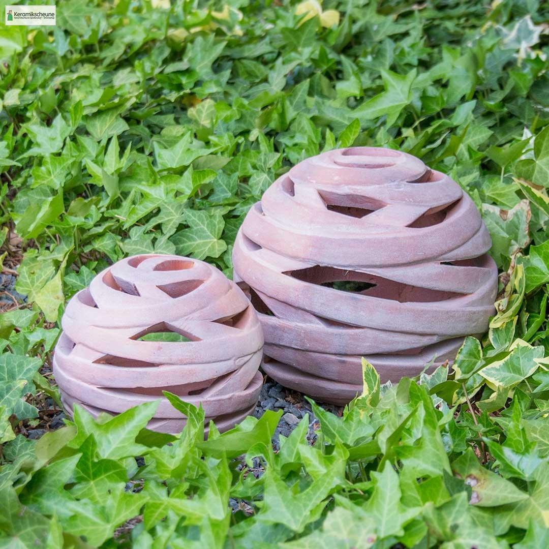 Kugel dekokugel gartendeko terracotta kaufen onlineshop for Gartendeko terracotta
