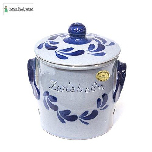 zwiebeltopf grau blau keramik steinzeug kaufen
