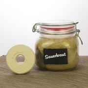 Beschwerungsstein klein (Ø ca. 7cm) für Sauerkraut oder Gurken im Glas