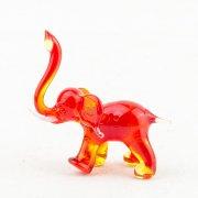 Glasfigur Elefant rot