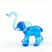 Glasfigur Elefant blau