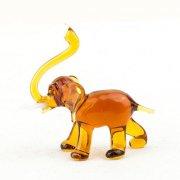 Glasfigur Elefant braun