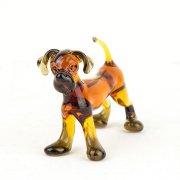Glasfigur Hund dunkle Pfoten