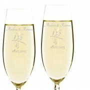 2 x Sektglas mit Gravur zur Hochzeit