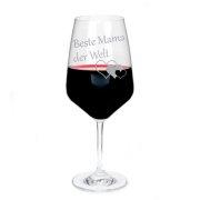 Rotweinglas mit Gravur Beste Mama - Papa - Oma - Opa