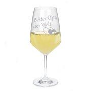 Weißweinglas mit Gravur Beste Mama - Papa - Oma - Opa