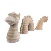 Gartendeko Drache 3-teilig Terracotta