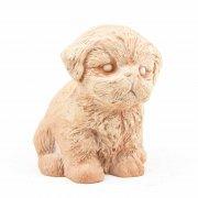 Dekofigur Hund Welpe Labrador Bernhardiner - Terracotta in Impruneta-Qualität