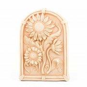 Wandbild Sonnenblume - Terracotta in Impruneta Qualität aus Italien