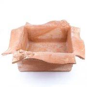 Pflanzschale mit geschwungenem Rand - Terracotta in Impruneta-Qualität aus Italien