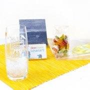 Longdrinkglas zur Einschulung mit Gravur, Wunschnamen, Naschereien & Geschenkverpackung - 4 Varianten
