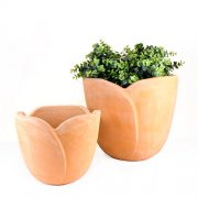 Pflanztopf in Tulpenform D 26cm / 35cm - Terracotta