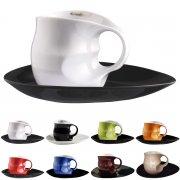 Kaffee Cappuccino Set 2-tlg. in verschiedenen Farben - Colani Porzellan Kollektion
