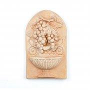 Wandbild Weintrauben  - Terracotta in Impruneta Qualität aus Italien