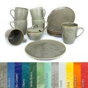 Kaffeeservice für 6 Personen 13-teilig in verschiedenen Farben - Rose & Tulipani