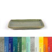 Platte 20 x 13 cm aus Steinzeug in verschiedenen Farben - Rose & Tulipani