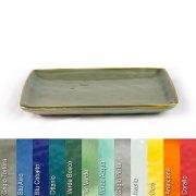 Platte 36 x 26,5 cm aus Steinzeug in verschiedenen Farben - Rose & Tulipani