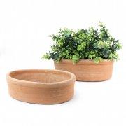 Pflanzschale oval 25 cm / 30 cm - Terracotta in Impruneta-Qualität
