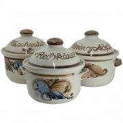 Gewürzdose mit Deckel - Heyde Keramik Steinzeug