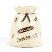 Geldsack mit eigener Beschriftung, Namen H 8,5cm / 19,5cm - Carstens Keramik Rheinsberg