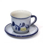 Kaffeetasse Grau-Blau - Westerwälder Steinzeug